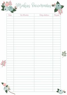 Planner 2018, Agenda Planner, Cute Planner, Templates Printable Free, Printable Paper, Printables, Ps Store, Planners, Creative Journal
