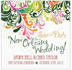 New Orleans Save The Date by MadeForYouDesignsNY on Etsy. 2.00 USD, via Etsy.