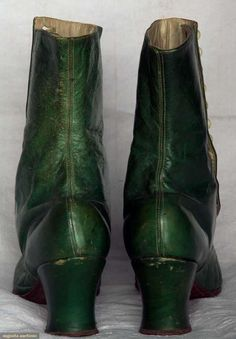 High-Button Boots (image 3) | 1890s | leather, linen | Augusta Auctions | November 13, 2013/Lot 112