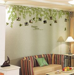 Leaves with 8 photo frame tree nursery wall decal by ChinStudio, $68.00