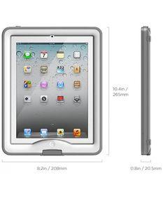 LifeProof Nuud Apple iPad Case 2/3/4 White/Gray