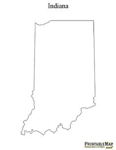 Indiana State Outline Art