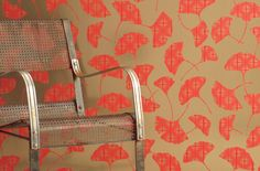 Hand-screened wallpaper printed in the USA with earth-friendly, water-based inks