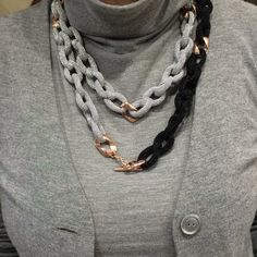 Adami&Martucci silver black mesh neckless at our store! Black Mesh, Gifts For Her, Crochet Necklace, Chain, Store, Silver, Jewelry, Fashion, Moda