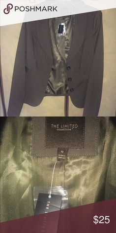 The limited brand blazer Dark brown blazer, with tags never worn, too big now. The Limited Jackets & Coats Blazers