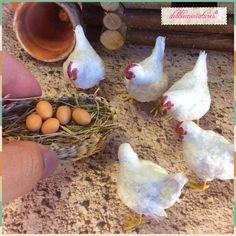 OOAK Handmade Miniature Realistic Hen Chicken 1 12 Scale Dollhouse by Dlennmark | eBay