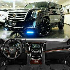 Cadillac Escalade, Continental, Custom Wheels, Custom Cars, Constructeur Automobile, Sweet Cars, Amazing Cars, Chevy Tahoe Interior, Luxury Cars