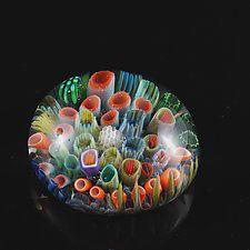 "Sea Floor Paperweight by Jeremy Sinkus (Art Glass Paperweight) (2"" x 3"")"