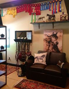 Cozy and inviting tack room