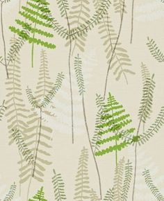 Athyrium (110215) - Scion Wallpapers - A pretty overlapped Athyrium design in green and beige on a light beige stitched background. Other colour ways available. Please request a sample for true colour match. Paste-the-wall.