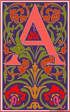 Vincent style letter A