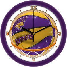Mens Northern Iowa Panthers - Slam Dunk Wall Clock