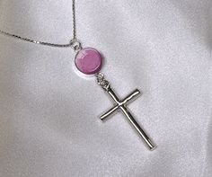 CREMATION PENDANT CROSS Necklace 925 Sterling by TheColorsOfHeaven