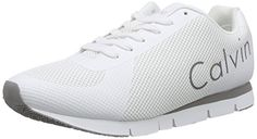 Calvin Klein Jeans JACK MESH/RUBBER SPREAD, Herren Sneakers, Weiß (WHT), 41 EU - http://uhr.haus/calvin-klein-jeans/calvin-klein-jeans-jack-mesh-rubber-spread-herren