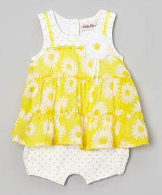 Another great find on #zulily! Yellow Flower Romper - Infant by Little Lass #zulilyfinds