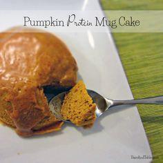 Pumpkin Protein Mug Cake Ingredients - 2 tbsp vanilla protein powder [I used Vega Vanilla Performance Protein] – 2 tbsp pumpkin spice peanut flour [I used MyOatmeal PB Lean but you can sub regular peanut flour] – 2 egg whites – 2 tbsp unsweetened vanilla almond milk – 1 tbsp canned pumpkin [Not pumpkin pie filling!] - 1/2 tsp baking powder – 1/4 tsp pumpkin pie spice – Pinch of salt