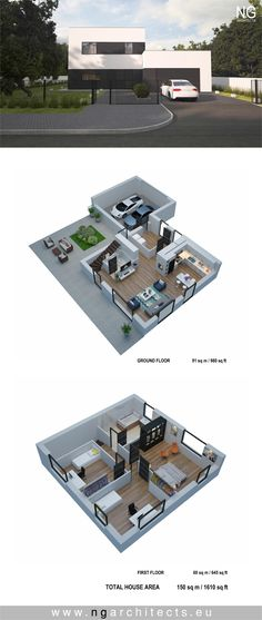 modern house plan Cube designed by NG architects www.ngarchitects.eu