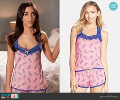 Daniela's pink pineapple print pajamas on Devious Maids.  Outfit Details: https://wornontv.net/58327/ #DeviousMaids