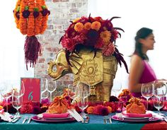 South Asian inspired tabletop styled by Varmala Design | Photography by Dennis Wise | Seattle Met Bride and Groom W/S 12
