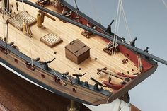 Lady Nelson is a wooden model of a cutter rigged ship, armed with 10 carriage guns and 8 swivel guns. This beautifully designed wooden model kit will build into a small masterpiece. Includes all wood and metal parts, rigging line, and display base. Wooden Ship Model Kits, Model Ship Kits, Model Ships, Model Building, Building Plans, Typical British, Naval, Laser Cut Wood, Sailing
