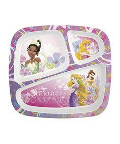 Look at this #zulilyfind! Princess Three-Section Plate by Disney #zulilyfinds