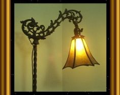 My Tulip Mica Shade Your choice of Mica for your Antique Vintage Old Bridge Lamp