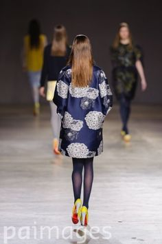 The Japanese influence on Michael van der Ham's short duster coat is apparent in the dandelion pattern, can I have on please?
