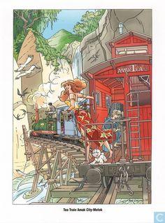 Ex-Libris BD et tirages - Tiré à part - Voertuigen - Tea train Amak City - Motok Franka