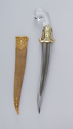 Dagger (Khanjar) with Sheath Swords And Daggers, Knives And Swords, Saber Sword, Cool Swords, Sword Design, Dagger Knife, Combat Knives, Cool Knives, Weapons Guns