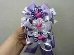 DIY decora balacas con moños y flores en cinta paso a paso. Manualidades...