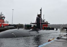 The Los Angeles-class attack submarine USS Providence (SSN 719) returns to Naval Submarine Base New London following a seven-month deployment. (U.S. Navy photo by Mass Communication Specialist 1st Class Jason J. Perry/Released)