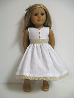 American Girl Doll ClothesTouch of Gold by 123MULBERRYSTREET, $26.00