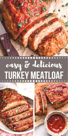 This healthy meatloaf recipe, made with lean ground turkey is easy and delicious. Click the link to get the recipe! This healthy meatloaf recipe, made with lean ground turkey is easy and delicious. Click the link to get the recipe! Healthy Turkey Recipes, Ground Turkey Recipes, Meat Recipes, Healthy Meatloaf Recipes, Ground Turkey Meatloaf, Healthy Turkey Meatloaf, Quick Meals To Make, Classic Meatloaf Recipe, Meat Loaf Recipe Easy