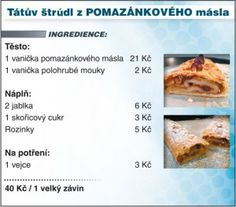 tatův strúdl lada hruška Keto Bread, French Toast, Cooking Recipes, Sweets, Apple, Dishes, Baking, Breakfast, Food