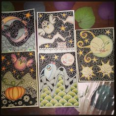 #DOODLE #tangle #fish #sun #star #sea #moon #owl #pumpkin #halloween #art #cat #drawing