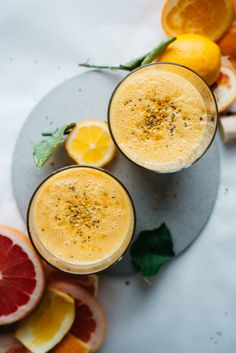 coconut citrus sunshine smoothie | dolly and oatmeal