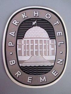 Park Hotel Bremen Decal Label Germany | eBay