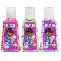Doc McStuffin sanitizer labels, Doc McStuffin Birthday Party sanitizer Labels, for 1oz hand sanitizers, DIY, Printable 001