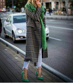 plaid & green