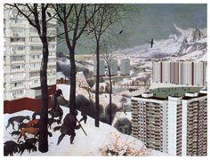 """Hunters in the Snow"" (innovative variant) Pieter Bruegel the Elder © Pavel Milyakov"