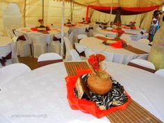 South African Traditional Weddings Zulu Traditional Wedding, Traditional Decor, Wedding Centerpieces, Wedding Decorations, Table Decorations, Centrepieces, Wedding Set Up, Chic Wedding, Long Dress Fashion