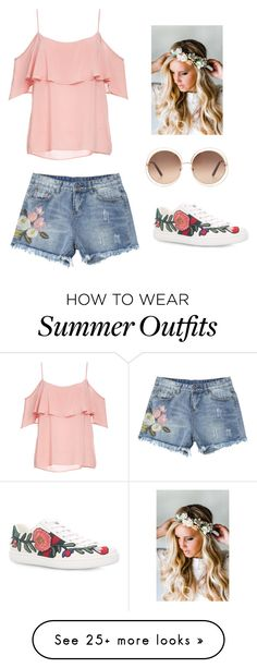 """summer outfit!!!"" by dorothygabrielledelacruz on Polyvore featuring BB Dakota, Gucci, Chloé and Emily Rose Flower Crowns"