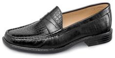 The black extra-depth Kent XD loafer with distinctive croco print vamp. In brown too. Sizes 7–12, 13 and 14 in 3E, 5E and 6E.