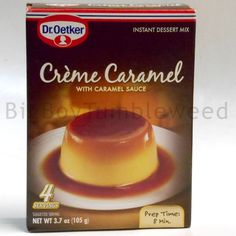 Dr.Oetker Instant Dessert mix Creme Caramel with caramel sauce 3.7 oz box sweet #DrOetker #BigBoyTumbleweed
