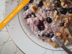 This warm Blueberry Walnut Buckwheat Cereal is a gluten-free breakfast full of essential fatty acids protein and antioxidants. How To Cook Buckwheat, Buckwheat Recipes, Cooking Buckwheat, Breakfast And Brunch, Breakfast Recipes, Breakfast Ideas, Vegan Gluten Free Breakfast, Gluten Free Breakfasts, Healthy Eating Recipes
