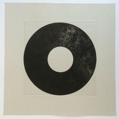 "Art Print . Fine Art Etching . Black and White. Minimalist: ""Surround 6"". Print Size 18"" x 18"" . unframed"