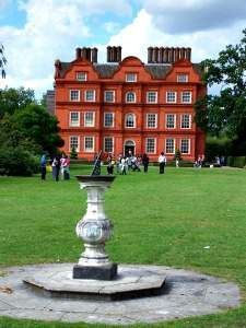 Kew Palace, the smallest and most intimate of British royal residences. Built in 1631 by Samuel Fortrey. It was leased by King George II but  It's most famous residence was 'mad' King George III who ascended the throne in 1760 and who would eventually purchase Kew Palace outright