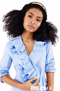 """Teenage talent and star of the hit ABC sitcom Black-ish Yara Shadi recently shot with Teen Vogue. The star served up 5 fierce looks for the spread and gushed about her love for her natural hair: """"T…"""