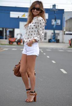 Luluuu | Shorts Blancos&Negros | Chicisimo
