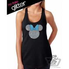 Glitter Minnie Mouse Tank Disneyland Shirt Disney Cinderella Castle... ($22) ❤ liked on Polyvore featuring tops, grey, tanks, women's clothing, gray shirt, glitter tank, gray tank, bow shirt and vinyl shirt